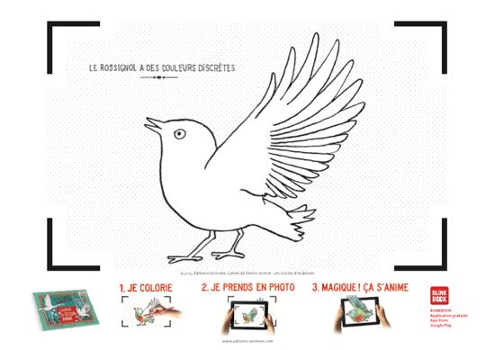 Coloriage à imprimer - Éditions Animées - Blinkbook - Andersen