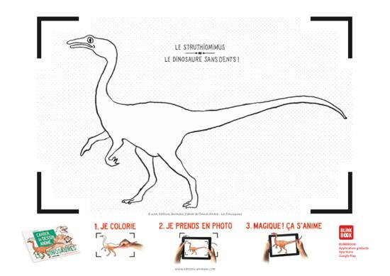 Coloriage à imprimer - Éditions Animées - Blinkbook - Dinosaures