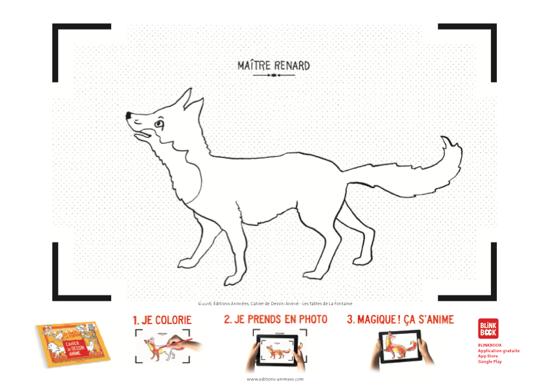 Coloriage à imprimer - Éditions Animées - Blinkbook - La Fontaine