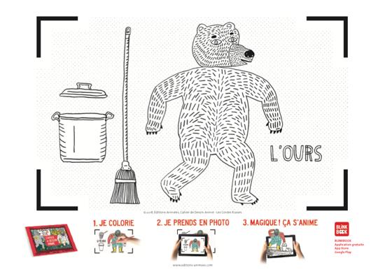Coloriage à imprimer - Éditions Animées - Blinkbook - Masha Mishka
