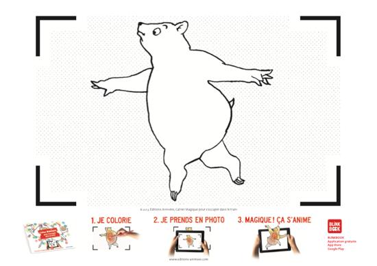 Coloriage à imprimer - Éditions Animées - Blinkbook - S'occuper dans le train
